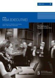 MBA (ExECUTIvE)