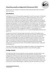 Toelichting bij resultaten enquête 2012 - Hervormde gemeente ...