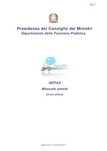 Manuale Utente GEPAS - Istituto di Teoria e Tecniche dell ...