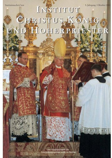 Jahrgang 2001 - Institut Christus König und Hoherpriester