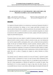 EVALUACION DE LA CAPACIDAD DE CARGA DINAMICA ... - Cismid