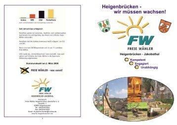 Heigenbrücken - wir müssen wachsen! - Freie Wähler Bayern