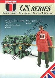 Wadkin GS Planer Moulder Literature