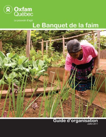 Banquet de la faim - Oxfam-Québec
