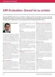 ERP-Evaluation: Darauf ist zu achten - ISYCON GmbH