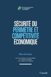 Sécurité du périmètre et compétitivité - Canada's Economic Action ...