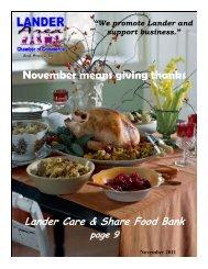 Newsletter November 11 WP - Lander Chamber of Commerce