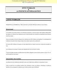 EFFET PYGMALION & LA PROPHETIE AUTOREALISATRICE L ...