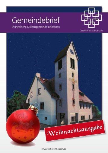 Dezember/Januar - Evangelische Kirchengemeinde Einhausen
