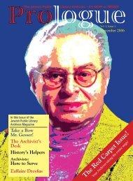 Issue 1 - November 2006 - Jewish Public Library