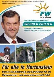 Für alle in Hartenstein Unsere Kandidatinnen ... - Freie Wähler Bayern