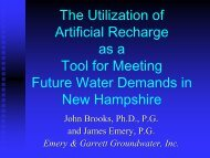 The Utilization of Artificial Recharge as a Tool for Meeting Future ...