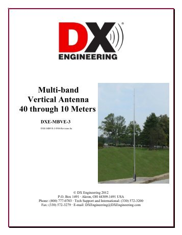Multi-band Vertical Antenna 40 through 10 Meters - DX Engineering