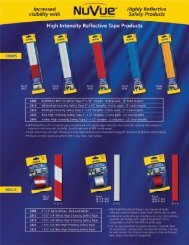 Reflective Tape and Reflectors - NuVue Products