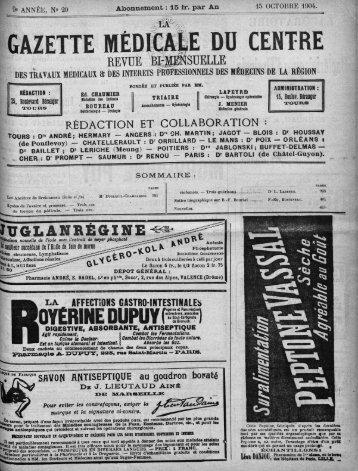 15 octobre 1904 - Université François Rabelais