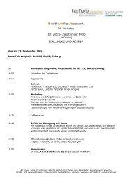 flexible.office.netzwerk. 13. und 14. September 2010 EINLADUNG ...