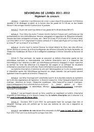 DEVOREURS DE LIVRES 2011-2012 - Eure