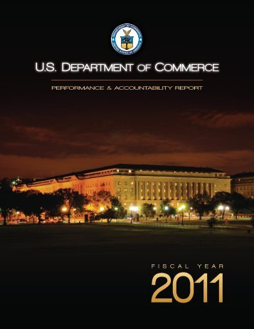 FY 2011 PAR - Department of Commerce