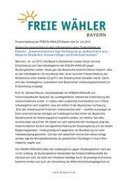 """Piazolo: """"Innenministerium legt Verfassung zu ... - Freie Wähler Bayern"""
