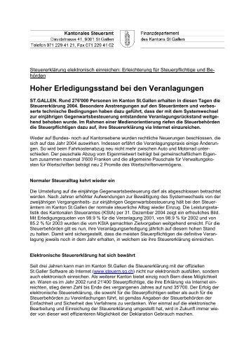 2005 Medienkonferenz - Cozzio Agostino ... - Steuern St. Gallen