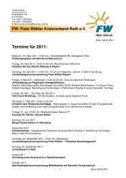 Termine für 2011 - Freie Wähler Bayern