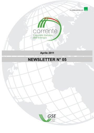 Newsletter numero 5 - Corrente - Gse