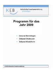Programm für das Jahr 2009 - Katholische Erwachsenenbildung ...