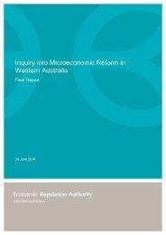 Final Report - Inquiry into Microeconomic Reform in Western Australia