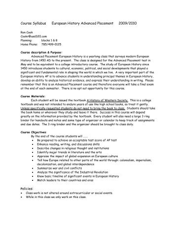 presidential outline assignment for advanced placement Assignments 1 advanced placement us history course outline: 2007-2008 12th edition advanced placement american history syllabus.