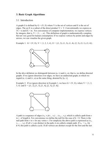 Lecture Notes on graph algorithms