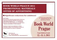 Offer of Advertising - Book World Prague 2011 - Svět knihy