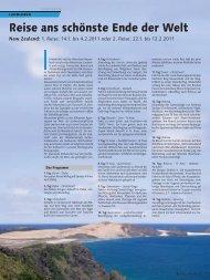 Reise ans schönste Ende der Welt - bei Terra Travel & Consulting AG