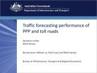PDF: 269 KB - Bureau of Infrastructure, Transport and Regional ...
