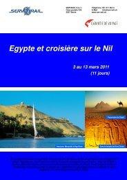 Egypte et croisière sur le Nil 3 au 13 mars 2011 - SERVRail
