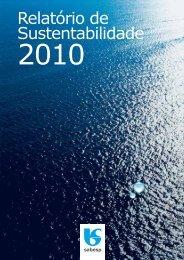 Relatório de Sustentabilidade 2010 - versão português (pdf) - Sabesp