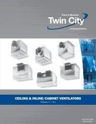 ceiling & inline/cabinet ventilators - Twin City Fan & Blower