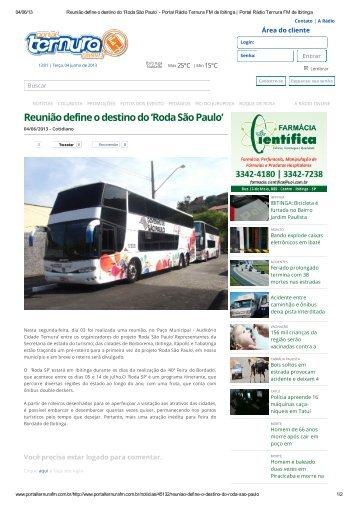 Paço Municipal - Auditório Cidade Ternura - Secretaria de Turismo