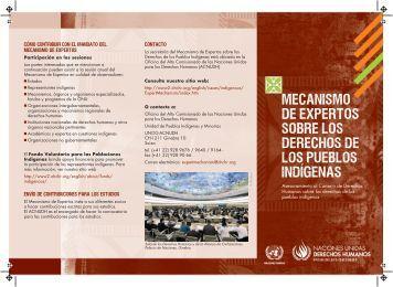 Mecanismos de Expertos sobre los Derechos Humanos de los ...