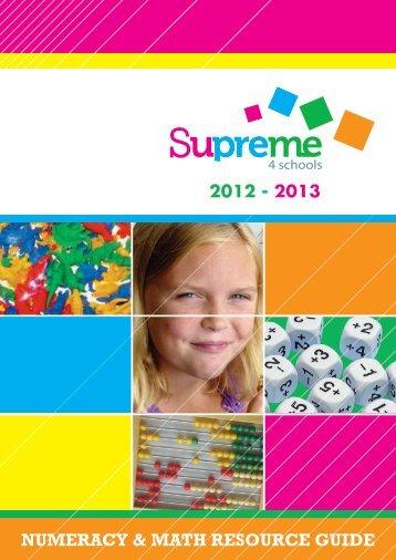 NUMERACY & MATH RESOURCE GUIDE - Supreme 4 Schools