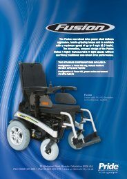The Fusion rear-wheel drive power chair delivers ... - Pride Mobility UK