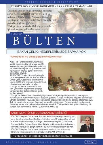 TÜROFED Temmuz Ayı Bülteni - Türkiye Otelciler Federasyonu