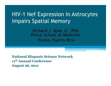HIV-1 Nef Expression in Astrocytes Impairs Spatial Memory