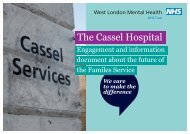 Cassel engagement document - West London Mental Health NHS ...