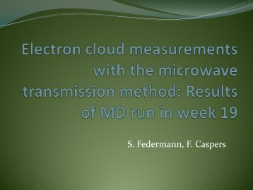 Electron cloud measurements with the microwave transmission ...
