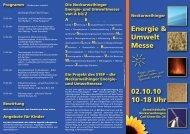 Programmflyer - Lokale Agenda Ludwigsburg - Stadt Ludwigsburg