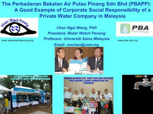 The Perbadanan Bekalan Air Pulau Pinang Sdn Bhd Pbapp A Good