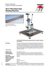 SK-5 T-Nut Desk-Type Welding Machine - Soyer