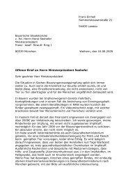 Dies ist der Offene Brief unseres Mitglieds Elfriede Einhell an Horst ...