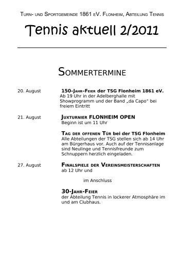 Tennis aktuell 2/2011 - TSG Flonheim 1861 eV.