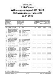 1. Raiffeisen Wäldercupspringen 2011 / 2012 Schwarzenberg ...